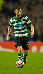 LIVERPOOL, ENGLAND - Tuesday, February 16, 2010: Sporting Clube de Portugal's Marat Izmailov in action against Everton during the UEFA Europa League Round of 32 1st Leg match at Goodison Park. (Photo by: David Rawcliffe/Propaganda)