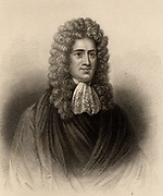 Andrew Fletcher of Saltoun (1653-1716) Scottish writer, politician and patriot.  He opposed the 1707 Act of Union between Scotland and England.  Engraving from 'A Biographical Dictionary of Eminent Scotsmen' by Thomas Thomson (1870).