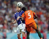 v.l. Sasa Ilic, Didier Zokora<br /> Fussball WM 2006 Elfenbeinkueste - Serbien-Montenegro<br /> Elfenbenskysten<br />  Norway only