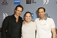 """Randall Batinkoff, Paul J. Martino and Michael A. Pierce at DTLA Film Festival """"INSIDE GAME"""" Los Angeles Premiere held at Regal LA Live on October 24, 2019 in Los Angeles, California, United States (Photo by © Michael Tran/VipEventPhotography.com"""