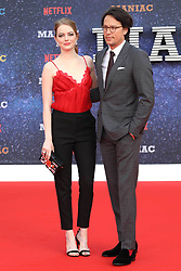 September 16, 2018 - London, England, United Kingdom - 9/13/18.Emma Stone and Cary Fukunaga at the Netflix Television series premiere of ''Maniac''..(London, England, UK) (Credit Image: © Starmax/Newscom via ZUMA Press)