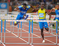 "Tyron ROBLES CUBA (L) winner, Dwight THOMAS (JAM) (R)<br /> 110m hurdles - ostacoli<br /> Roma 10/6/2010 Stadio ""Olimpico""<br /> Golden Gala - Diamond League<br /> Atletica - Athletics<br /> Foto Massimo OLIVA Insidefoto"