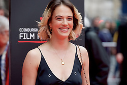 "Jessica Brown Findlay, on the red carpet at the Edinburgh International Film Festival world Premier of ""England is Mine"" at Edinburgh's Festival Theatre. Sunday, 2nd July, 2017(c) Brian Anderson | Edinburgh Elite media"