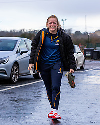 Sarah Nicholas of Worcester Warriors Women arrives at Sixways - Mandatory by-line: Nick Browning/JMP - 20/12/2020 - RUGBY - Sixways Stadium - Worcester, England - Worcester Warriors Women v Harlequins Women - Allianz Premier 15s