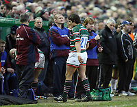 Photo: Rich Eaton.<br /> <br /> Leicester Tigers v Newcastle Falcons. Guinness Premiership. 27/01/2007. Harry Ellis of Leicester Tigers leaves the field not long after coming on as a substitute