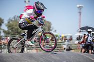 #156 (AZUERO Domenica) ECU at round 8 of the 2018 UCI BMX Supercross World Cup in Santiago del Estero, Argentina.