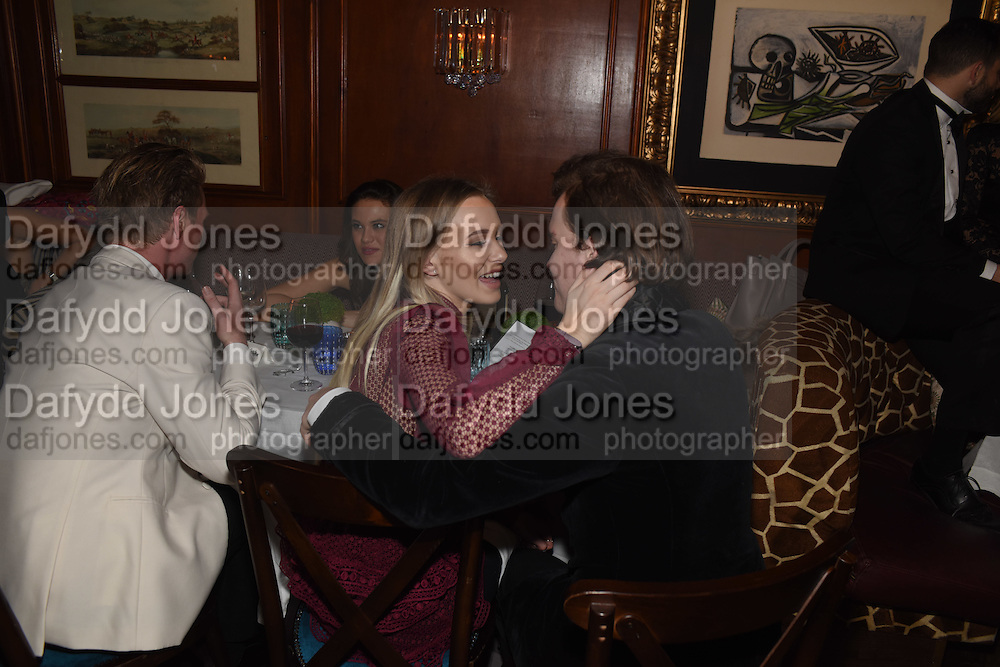 OLIVIA DENDLE; GEORGE HENDERSON, Fraser Carruthers  and Harry Scofield birthday. Archie's club, 92b Old Brompton Rd. London. 11 February 2017