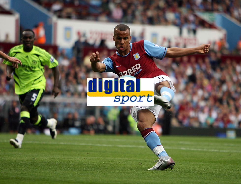 Photo: Rich Eaton.<br /> <br /> Aston Villa v Chelsea. The FA Barclays Premiership. 02/09/2007. Aston Villa's Gabriel Agbonlahor shoots.