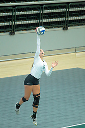 26 August 2017:  Rachel Burkman during the green-white scrimmage of the Illinois Wesleyan Titans in Shirk Center, Bloomington IL