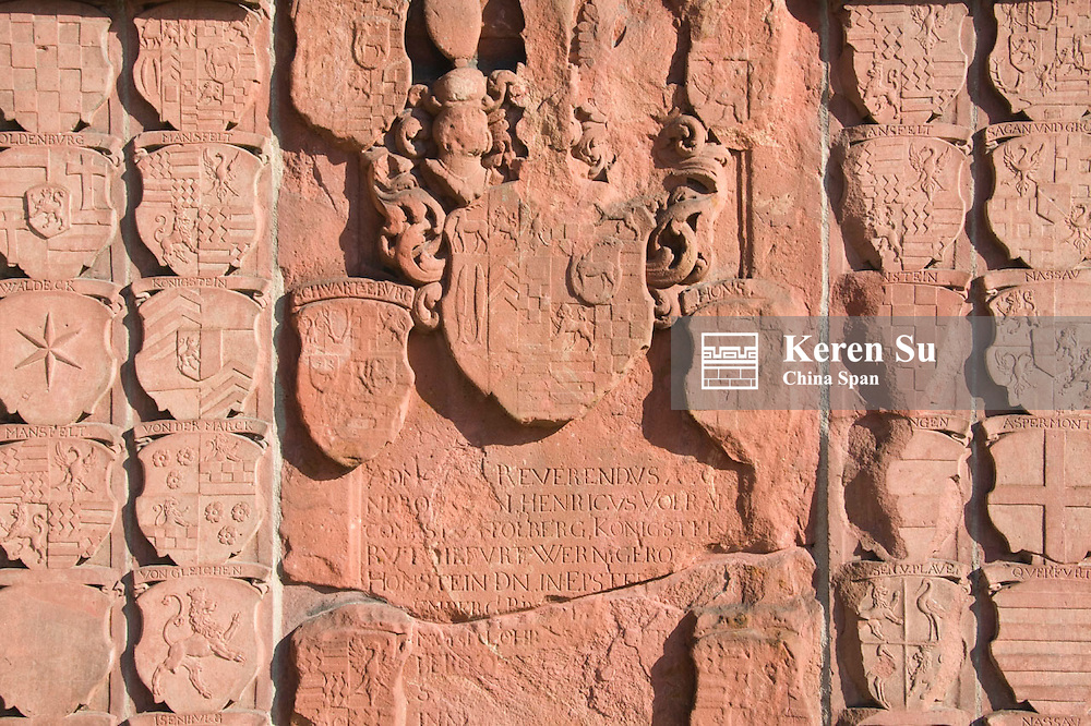 Relief on the wall, Frankfurt, Germany