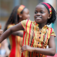 The Watoto Children's Choir performing in Seattle, Washington. Watoto provides opportunity and hope to AIDS orphaned Uganadan children.