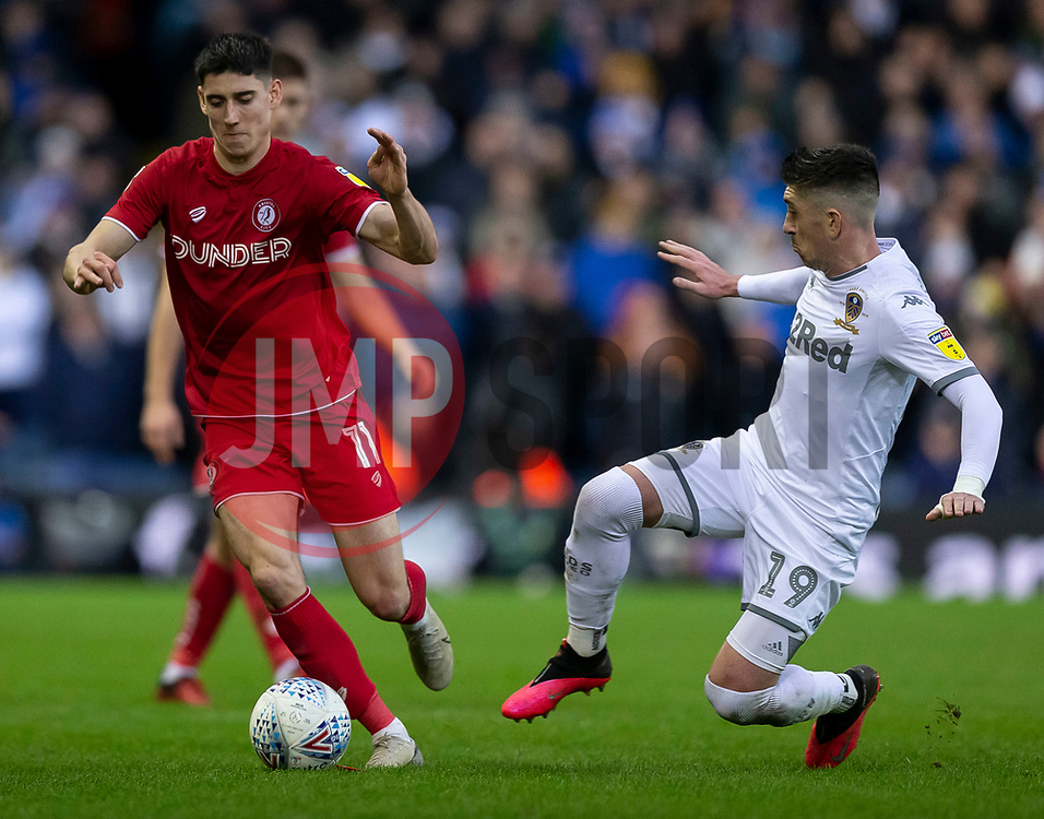 Callum O'Dowda of Bristol City and Pablo Hernandez of Leeds United - Mandatory by-line: Daniel Chesterton/JMP - 15/02/2020 - FOOTBALL - Elland Road - Leeds, England - Leeds United v Bristol City - Sky Bet Championship