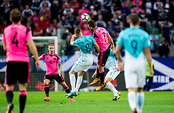 Jasmin Kurtic of Slovenia vs James McArthur of Scotland during football match between National Teams of Slovenia and Scotland of Fifa 2018 World Cup European qualifiers, on October 8, 2017 in SRC Stozice, Ljubljana, Slovenia. Photo by Vid Ponikvar / Sportida