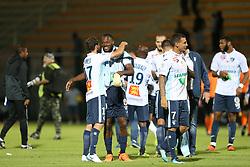 August 10, 2018 - Paris, France - Joie des joueurs du Havre - Herve Bazile (Le Havre) - Alexandre Bonnet  (Credit Image: © Panoramic via ZUMA Press)