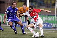 FOOTBALL - FRENCH CHAMPIONSHIP 2005/2006 - AS MONACO v AJ AUXERRE - 06/08/2006 - CAMEL MERIEM (MON) / PHILIPPE VIOLEAU (AUX) - PHOTO PHILIPPE LAURENSON / Digitalsport<br /> Norway only *** Local Caption *** 40001761