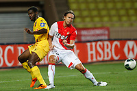 FOOTBALL - FRENCH CHAMPIONSHIP 2011/2012 - AS MONACO v US BOULOGNE  - 1/08/2011 - PHOTO PHILIPPE LAURENSON / DPPI - THORSTEIN HELSTAD (ASM) / ISMAEL GACE (BOU)