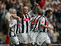 Photo: Lee Earle.<br /> West Bromwich Albion v Hull City. Coca Cola Championship. 05/08/2006. Albion's John Hartson (2ndL) celebrates scoring their opening goal.
