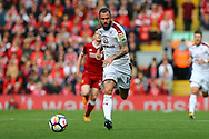 Steven Defour of Burnley in action. Premier League match, Liverpool v Burnley at the Anfield stadium in Liverpool, Merseyside on Saturday 16th September 2017.<br /> pic by Chris Stading, Andrew Orchard sports photography.