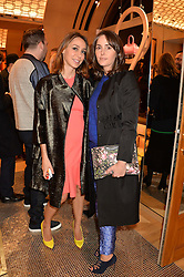Left to right, SOFIA BARATTIERI and TANIA FARES at the opening party for Moynat's new Maison de Vente in Mayfair at 112 Mount Street, London W1 on 12th March 2014.