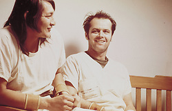 FILM TITLE:  ONE FLEW OVER THE CUCKOO'S NEST.  DIRECTOR:  Milos Forman.  STUDIO:  UNITED ARTISTS.  PLOT:   A compelling, socially-conscious portrait of mental institution patients pitted against a tyrannical, sinister head nurse, adapted from Ken Kesey's celebrated 1962 novel.   A free-spirited, rebellious convict Randle P. McMurphy (Jack Nicholson) feigns insanity to avoid a jail sentence, and is sent to an insane asylum.   McMurphy proceeds to instigate group insurrections large and small, ranging from a restorative basketball game to an afternoon boat trip and a tragic after-hours party with hookers and booze.   Nurse Ratched, however, has the machinery of power on her side to ensure that McMurphy will not defeat her.  Winner of 5  Academy Awards:   Best Picture, Best Director, Best Actor (Jack Nicholson), Best Actress (Louise Fletcher), Best Adapted Screenplay.  PICTURED:  JACK NICHOLSON, WILL SAMPSON, 'JUICY FRUIT.'    (Credit Image: © Entertainment Pictures/Entertainment Pictures/ZUMAPRESS.com)