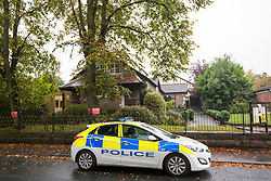 © Licensed to London News Pictures. 25/09/2017. Altrincham UK. Picture shows the Altrincham Islamic Centre where a Imam named locally as Dr Nasser Kurdy has been stabbed in Manchester. The incident is being treated  by police as a hate crime.  Photo credit: Andrew McCaren/LNP