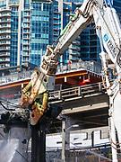 Alaskan Way Viaduct demolition, Seattle, Washington, USA  02/26/19