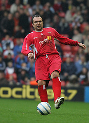 LIVERPOOL, ENGLAND - SUNDAY MARCH 27th 2005: Liverpool Legends' Neil Ruddock during the Tsunami Soccer Aid match at Anfield. (Pic by David Rawcliffe/Propaganda)