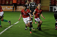 GOAL CELE 1-0 Walsall's Matthew Sadler during the EFL Sky Bet League 2 match between Walsall and Crawley Town at the Banks's Stadium, Walsall, England on 3 November 2020.