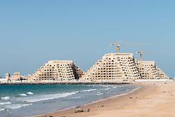 New residential apatment buildings under construction on Al Marjan Island in Ras al Khaimah United Arab emirates UAE