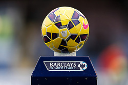 The Nike Ordem Premier League matchball sits on a plinth before the game - Photo mandatory by-line: Rogan Thomson/JMP - 07966 386802 - 26/12/2014 - SPORT - FOOTBALL - Burnley, England - Turf Moor Stadium - Burnley v Liverpool - Boxing Day Christmas Football - Barclays Premier League.