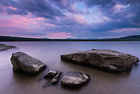 Sunset blues and pinks, great averill pond, Averill, VT