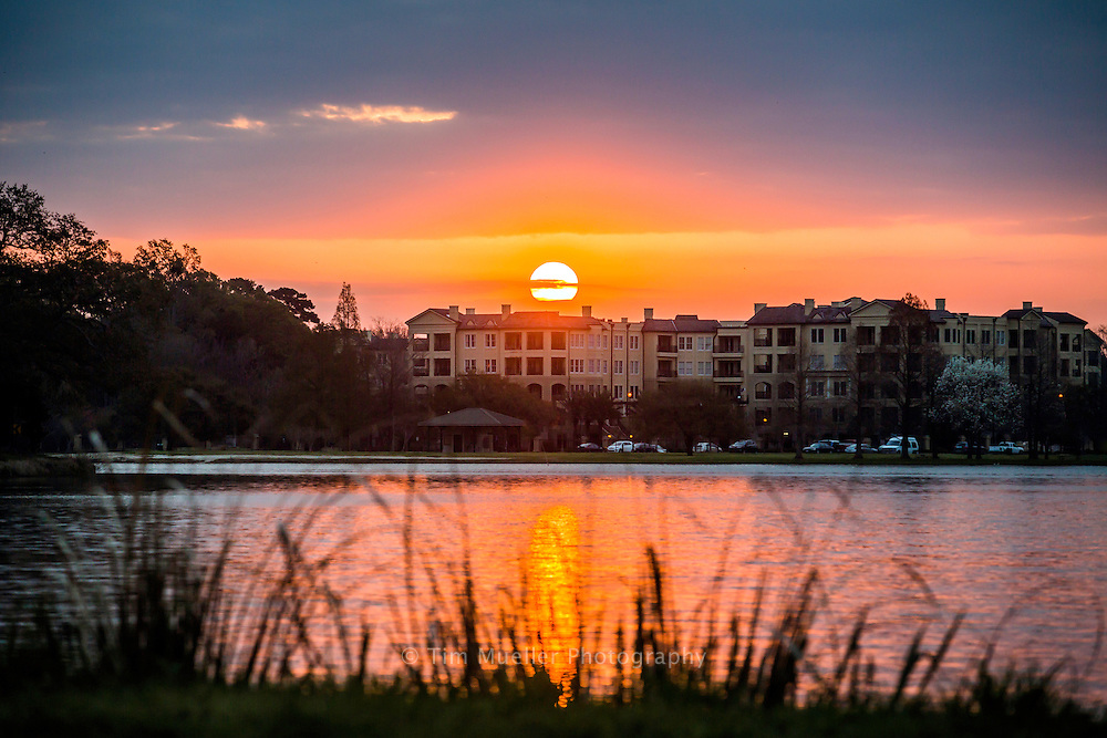 Sunrise at University Lake in Baton Rouge, La.