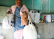 """Homeless Marion Hill may soon be evicted from under the Hwy. 89 bridge over Flat Creek near Smiths. Many in town know the woman as the """"Pink Chicken."""""""