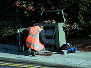 British Telecom telephone engineer at work