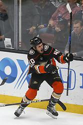 November 7, 2017 - Los Angeles, California, U.S - Anaheim Ducks forward Jared Boll (40) celebrates after scoring during a 2017-2018 NHL hockey game in Anaheim, California on Nov. 7, 2017. Los Angeles Kings won 4-3 in overtime. (Credit Image: © Ringo Chiu via ZUMA Wire)