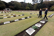 American veterans at the Remembrance Day ceremonies at the Commonwealth War Cemetery in Hodogaya, Yokohama, Japan. Wednesday November 11th 2015