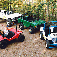 Range of Bullitt Model Cars including the 'Buglet' and the Baja Jeep, the Range Rover and the 'Little Foot' Pick-up