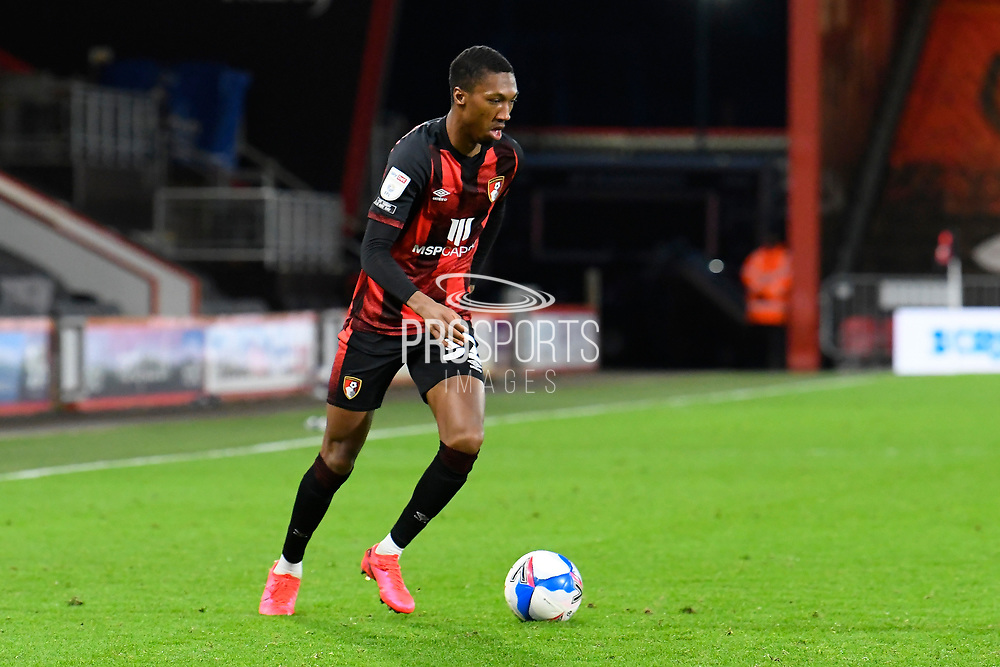 Jaidon Anthony (32) of AFC Bournemouth during the EFL Sky Bet Championship match between Bournemouth and Luton Town at the Vitality Stadium, Bournemouth, England on 16 January 2021.