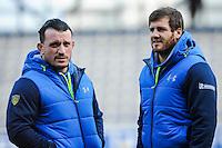 Thomas DOMINGO / Camille LOPEZ - 25.01.2015 -  Clermont / Saracens - European Champions Cup <br />Photo : Jean Paul Thomas / Icon Sport