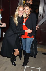 Left to right, HEIDI BISHOP and DANNI MINOGUE at a launch party for Kraken Opus's new luxury sports books held at Sketch, 9 Conduit Street, London W1 on 22nd February 2006.<br /><br />NON EXCLUSIVE - WORLD RIGHTS
