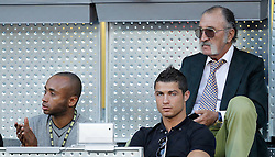 04-05-2010 TENNIS: ATP MADRID OPEN: MADRID<br /> Cristiano Ronaldo and Ion Tiriac <br /> ©2010- FotoHoogendoorn.nl/ nph / Alvaro Hernandez