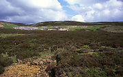 A23ADN Upland moor and signs of old quarrying Upper Teesdale northern Pennines England