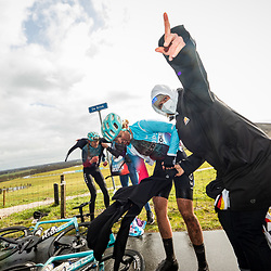 12-03-2021: Wielrennen: Healthy Ageing Tour: Wijster <br />After the race Maike van der Duin