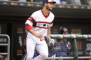 CHICAGO - SEPTEMBER 08:  Dylan Cease #84 of the Chicago White Sox runs onto the field against the Los Angeles Angels on September 8, 2019 at Guaranteed Rate Field in Chicago, Illinois.  (Photo by Ron Vesely)  Subject:   Dylan Cease