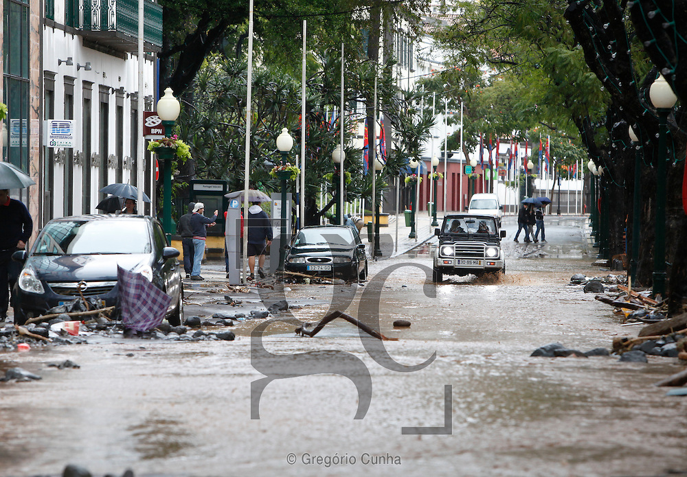 Heavy rains and strong winds hit Madeira Island provoking landslides and floods that killed at least 31 people and injured more than 60, Funchal, Madeira Island, Portugal, 20 February 2010. Photo /Gregorio Cunha .Temporal na Ilha da Madeira.Foto Gregorio Cunha