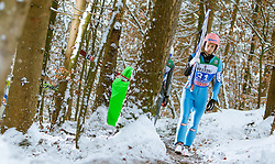 05.01.2015, Paul Ausserleitner Schanze, Bischofshofen, AUT, FIS Ski Sprung Weltcup, 63. Vierschanzentournee, Training, im Bild Manuel Fettner (AUT) // during Training of 63rd Four Hills <br /> Tournament of FIS Ski Jumping World Cup at the Paul Ausserleitner Schanze, Bischofshofen, Austria on 2015/01/05. EXPA Pictures © 2015, PhotoCredit: EXPA/ JFK