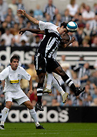 Photo: Jed Wee/Sportsbeat Images.<br /> Newcastle United v Juventus. Pre Season Friendly. 29/07/2007.<br /> <br /> Juventus' Tiago Mendes rises above Newcastle's Geremi to win the ball.