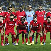 Gaziantepspor's players during their Turkish superleague soccer match Fenerbahce between Gaziantepspor at the Sukru Saracaoglu stadium in Istanbul Turkey on Sunday 21 September 2014. Photo by Aykut AKICI/TURKPIX