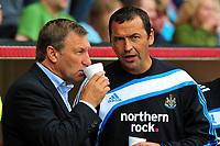 Pre Season Friendly Darlington vs Newcastle United at the Darlington arena. Colin Todd (Darlington Manager) and Colin Calderwood (Newcastle)<br /> 18/07/2009. Credit Colorsport / Darren Blackman