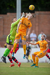 Annan Athletic's Alex Mitchell and Livingston Jack Hamilton. Livingston 1 v 0 Annan Athletic, Scottish League Cup Group F, played 21/7/2018 at Prestonfield, Linlithgow.